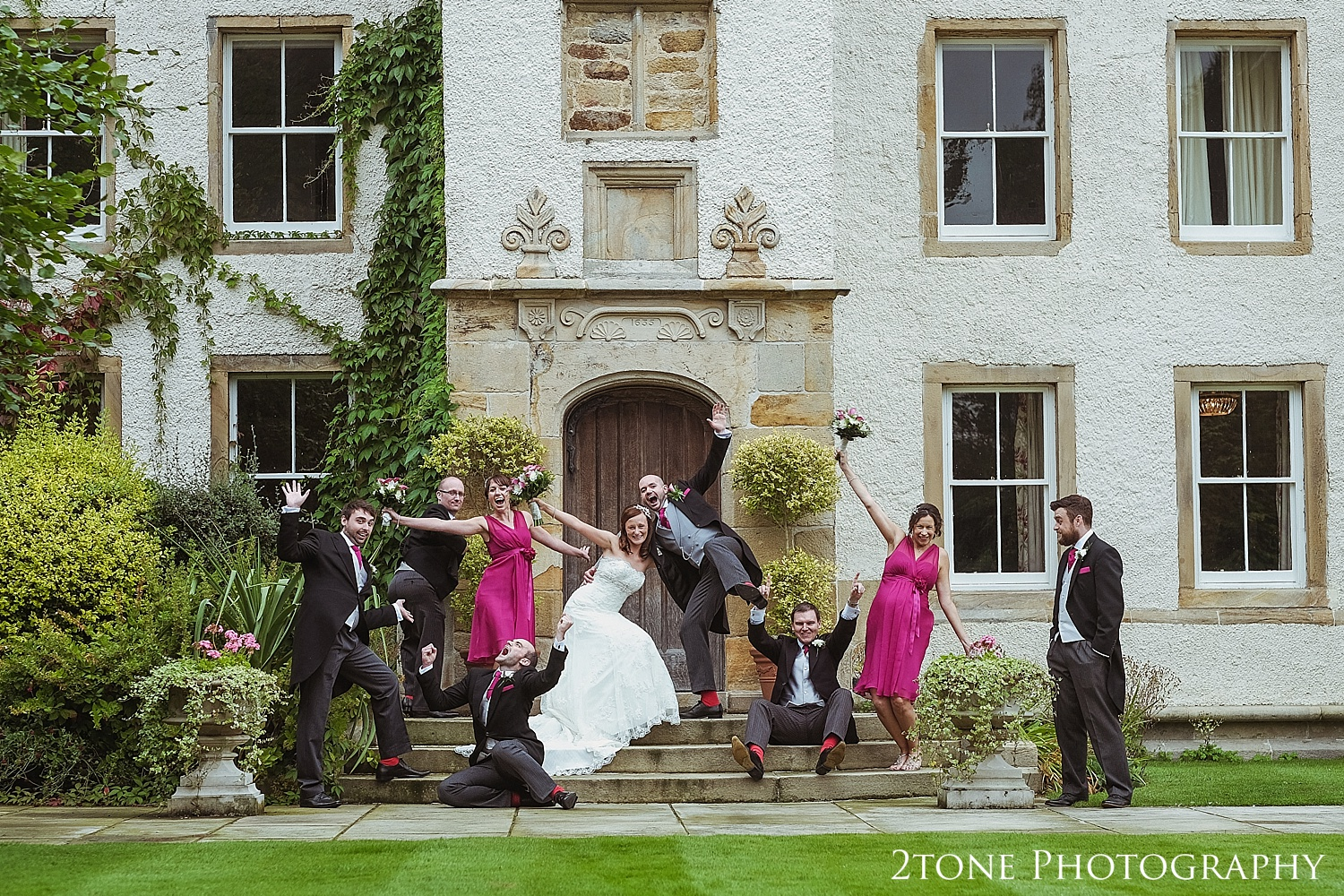 A bit of good old fashioned silliness, why not!  Perfect for this fun loving couple!