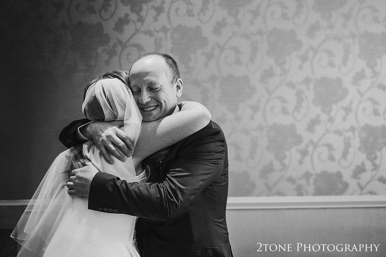 Bride and father.  Wedding photography newcastle, www.2tonephotography.co.uk