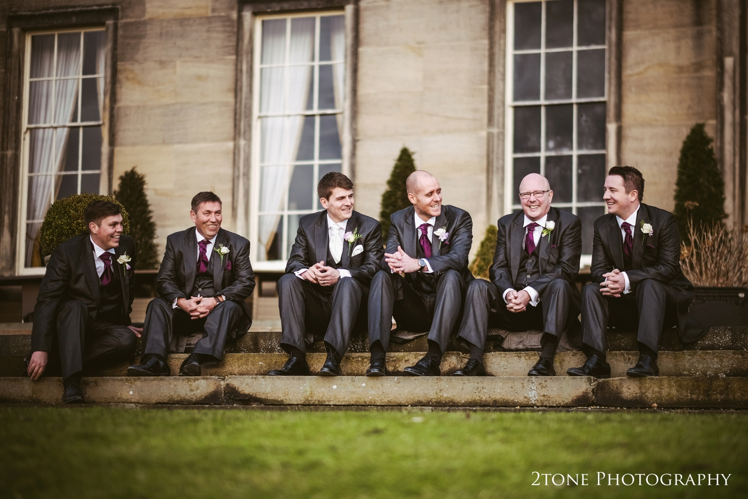 Groomsmen.  Wynyard Hall wedding Photography by durham wedding photographers www.2tonephotography.co.uk