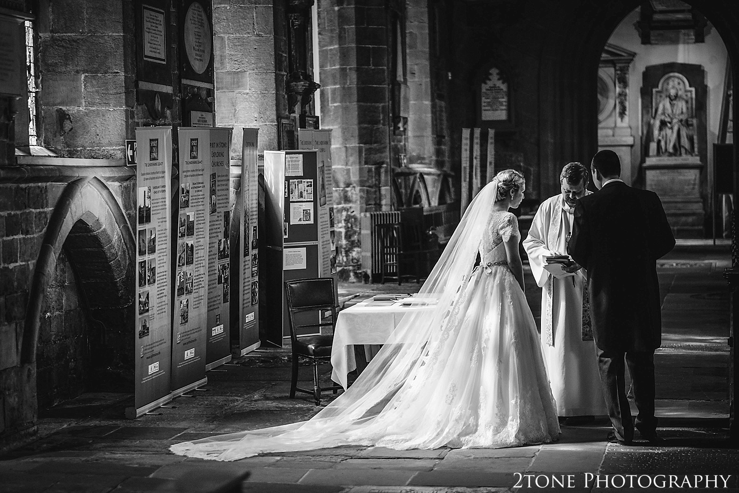 Cathedral Church of St Nicholas.  Newcastle and Beamish Hall Wedding Photography by www.2tonephotography.co.uk