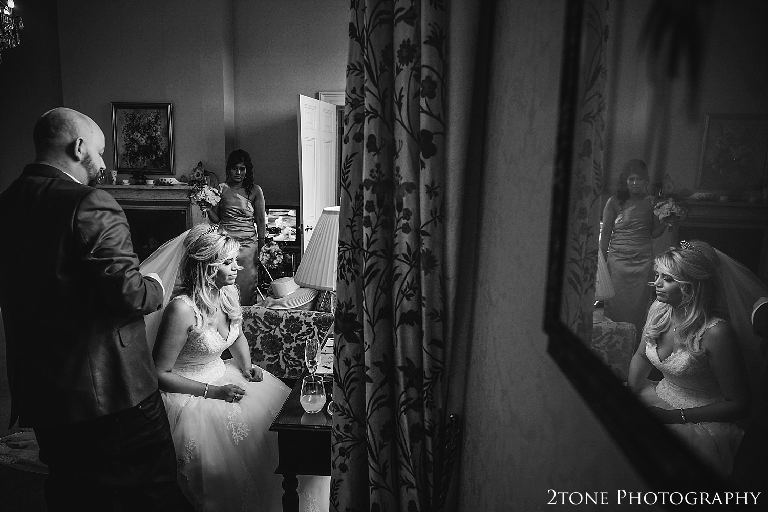 Creative wedding photographs.  Wynyard Hall wedding photography by www.2tonephotography.co.uk