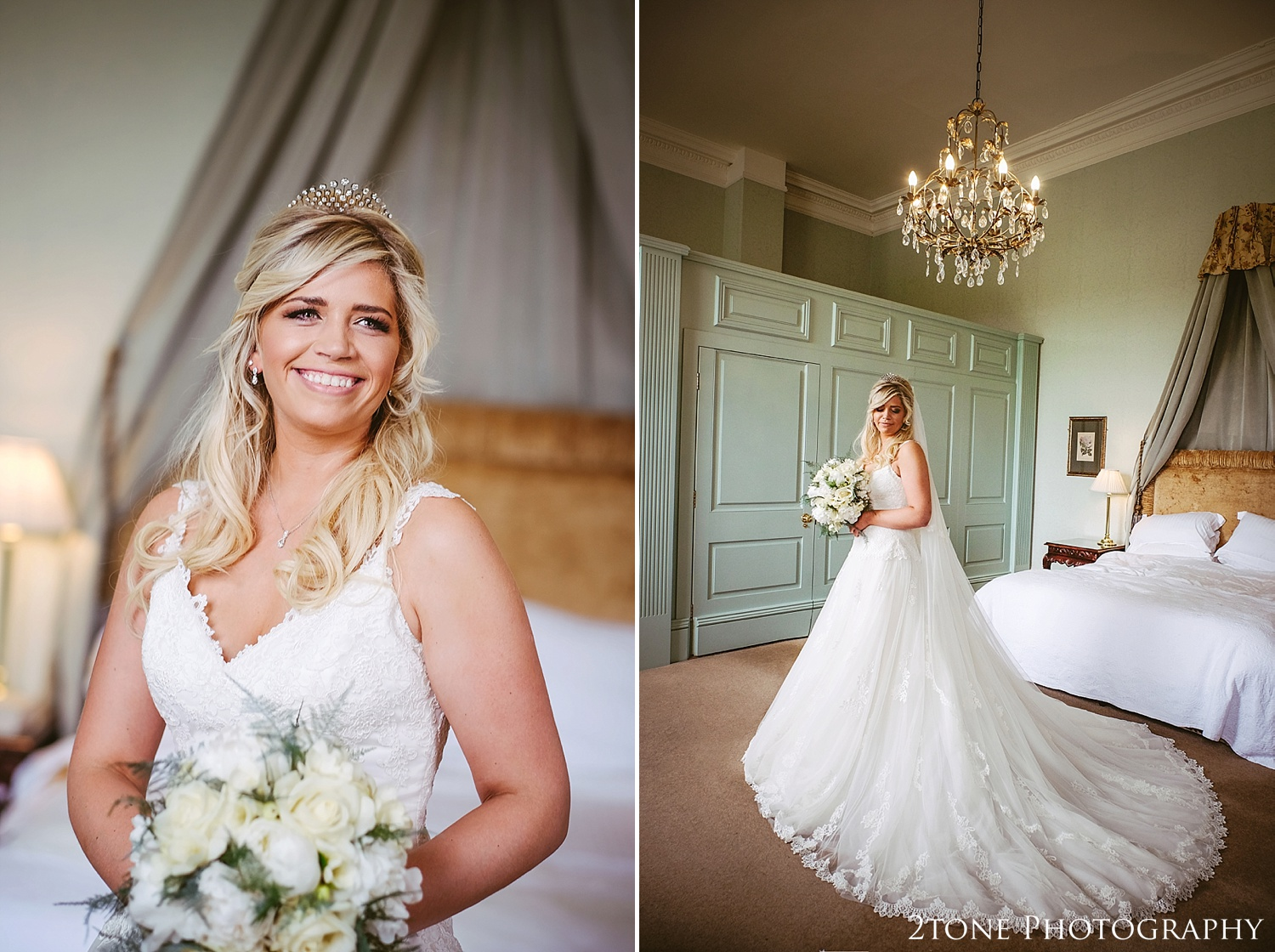Bridal Portraits.  Wynyard Hall wedding photography by www.2tonephotography.co.uk