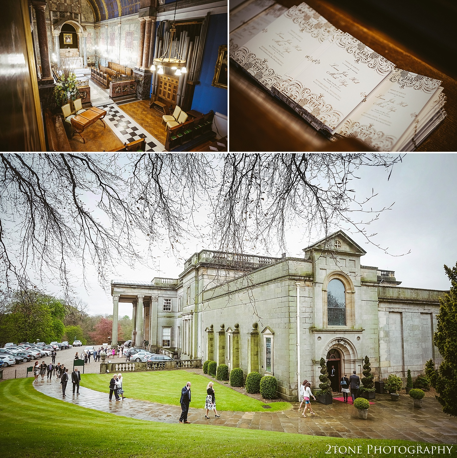 Wynyard Hall Chapel.  Wynyard Hall wedding photography by www.2tonephotography.co.uk