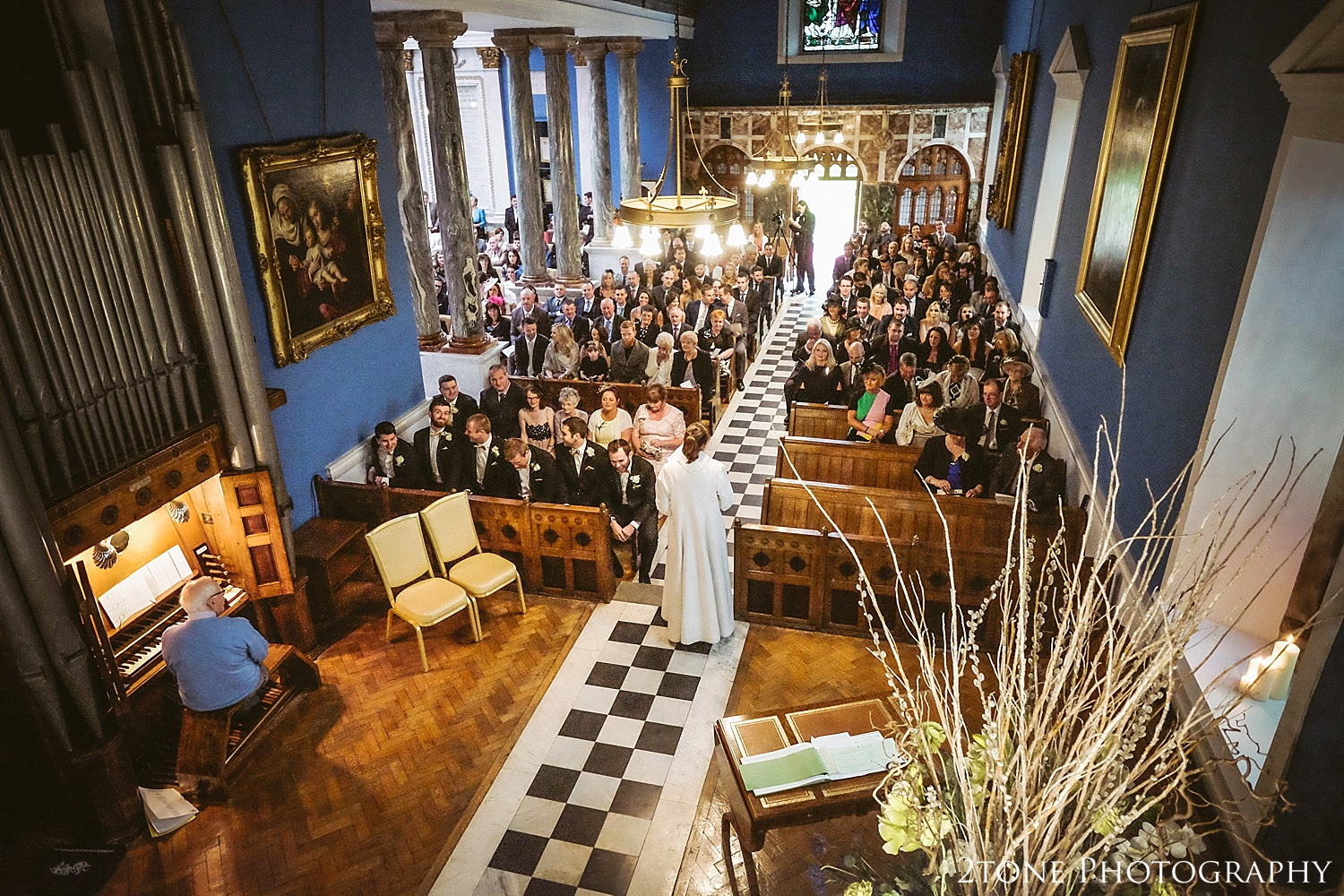 The Chapel at Wynyard Hall.  Wynyard Hall wedding photography by www.2tonephotography.co.uk
