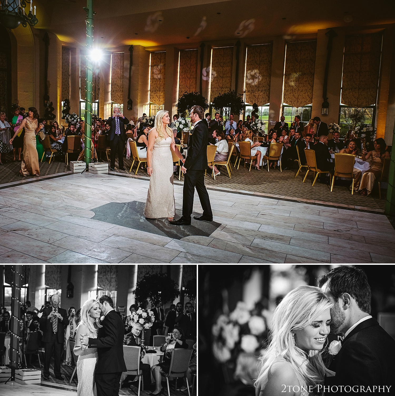 First dance at Wynyard Hall.  Wynyard Hall wedding photography by www.2tonephotography.co.uk