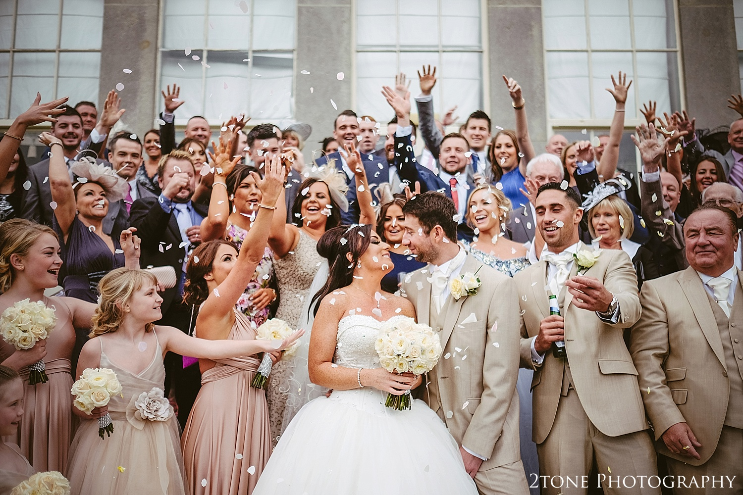 Confetti at Wynyard Hall by Newcastle and Durham based Wedding Photographer www.2tonephotography.co.uk