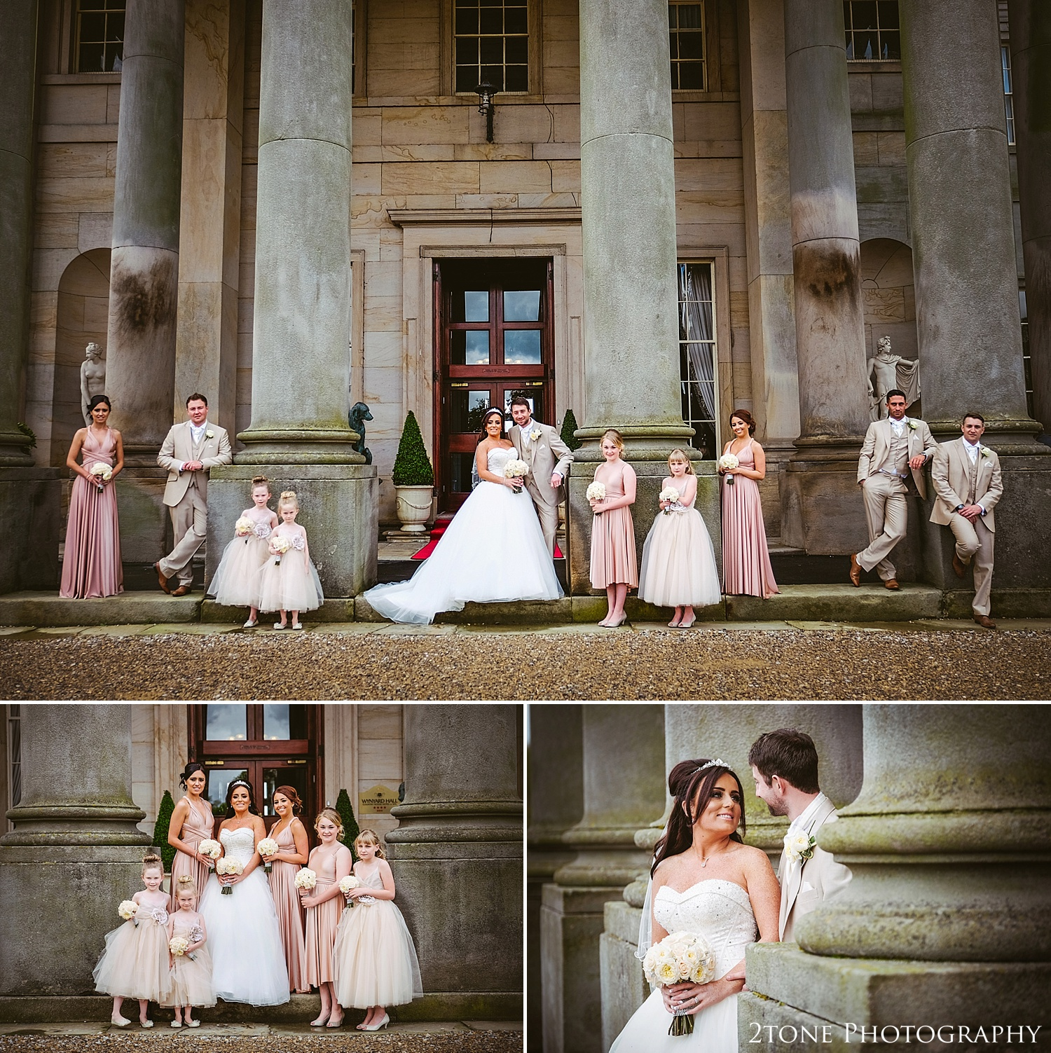 Bridal party photographs at Wynyard Hall by Newcastle and Durham based Wedding Photographer www.2tonephotography.co.uk