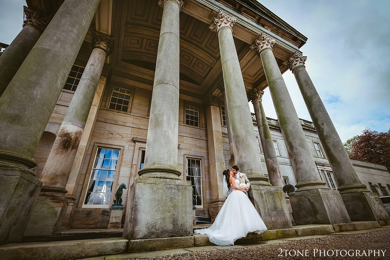Creative wedding photograph at Wynyard Hall by Newcastle and Durham based Wedding Photographer www.2tonephotography.co.uk