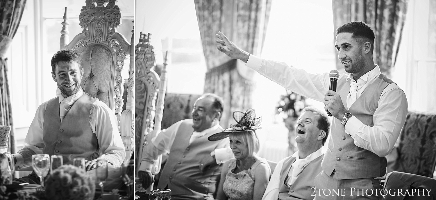 Wedding speech at Wynyard Hall by Newcastle and Durham based Wedding Photographer www.2tonephotography.co.uk
