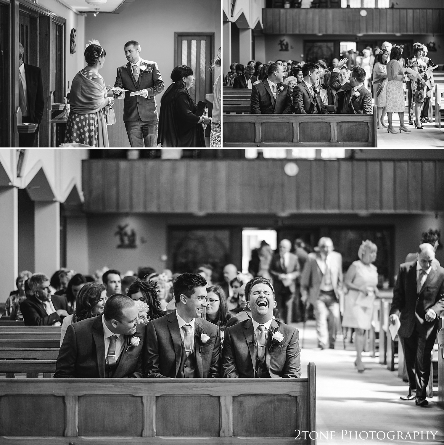 Natural wedding photography at St Cuthberts Seaham, wedding photography by www.2tonephotography.co.uk