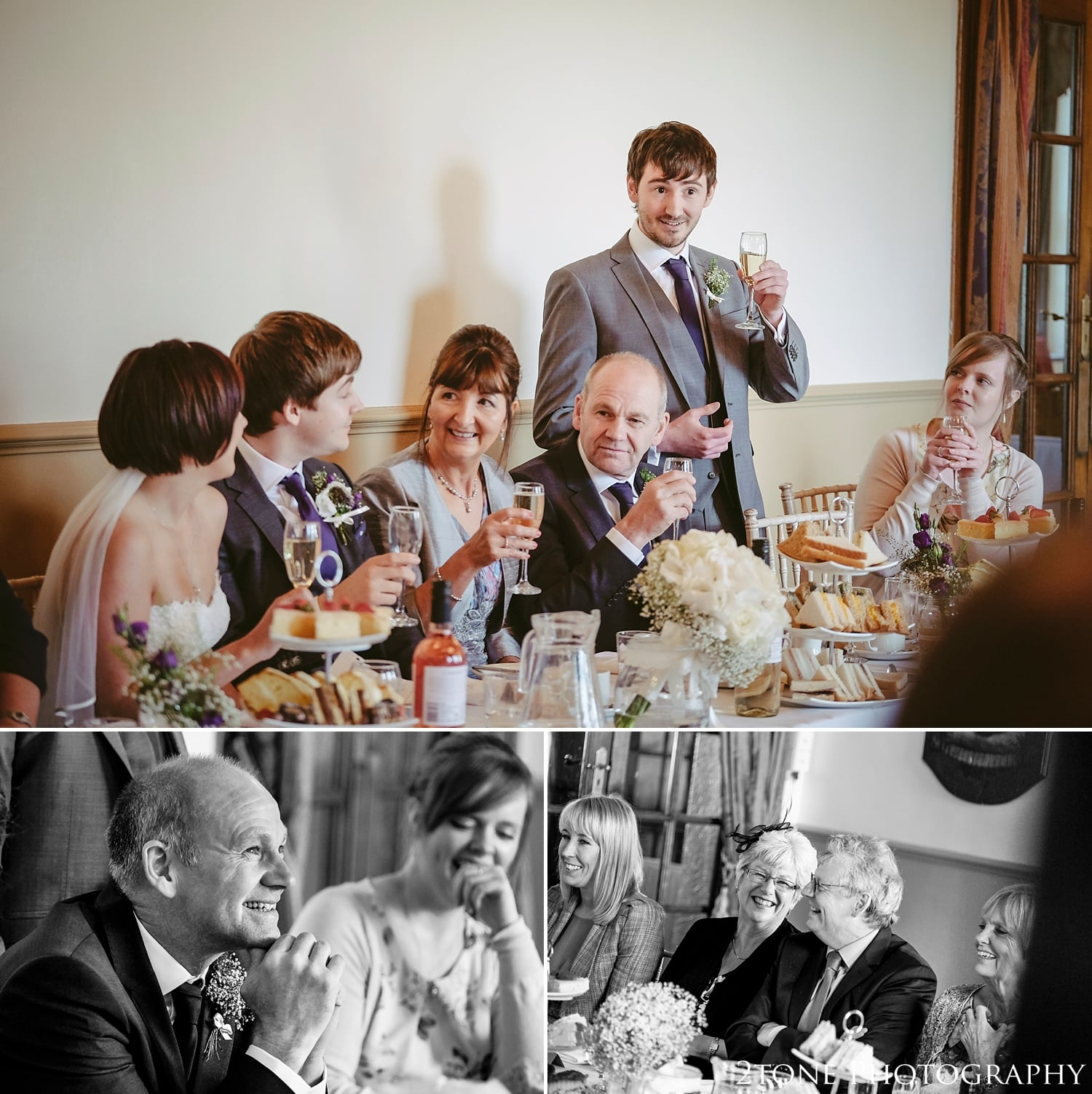 Wedding Speeches at Kirkley Hall by 2tone Photography