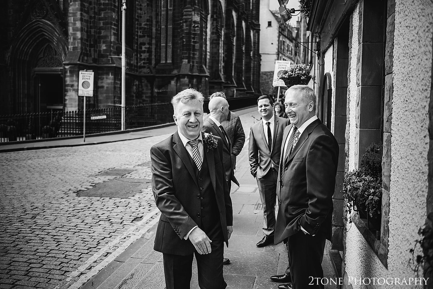 Groom getting ready in Edinburgh by 2tone Photography