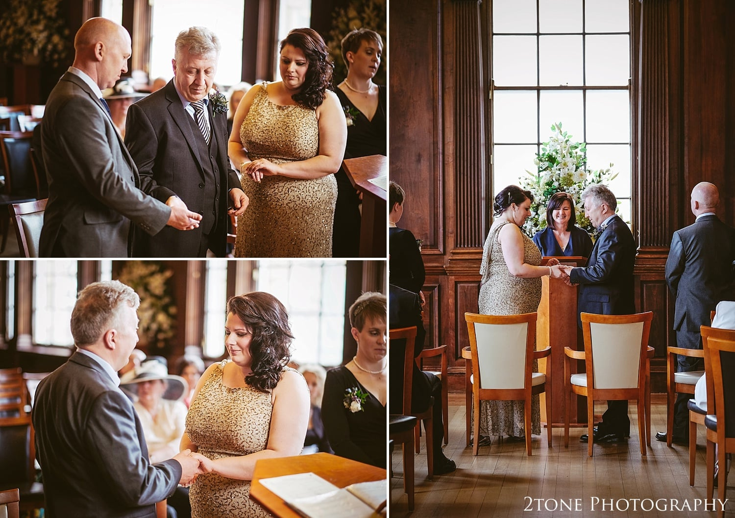 Intimate wedding ceremony on the Royal Mile.  Wedding Photography at the Lothian Chambers in Edinburgh by 2tone Photography