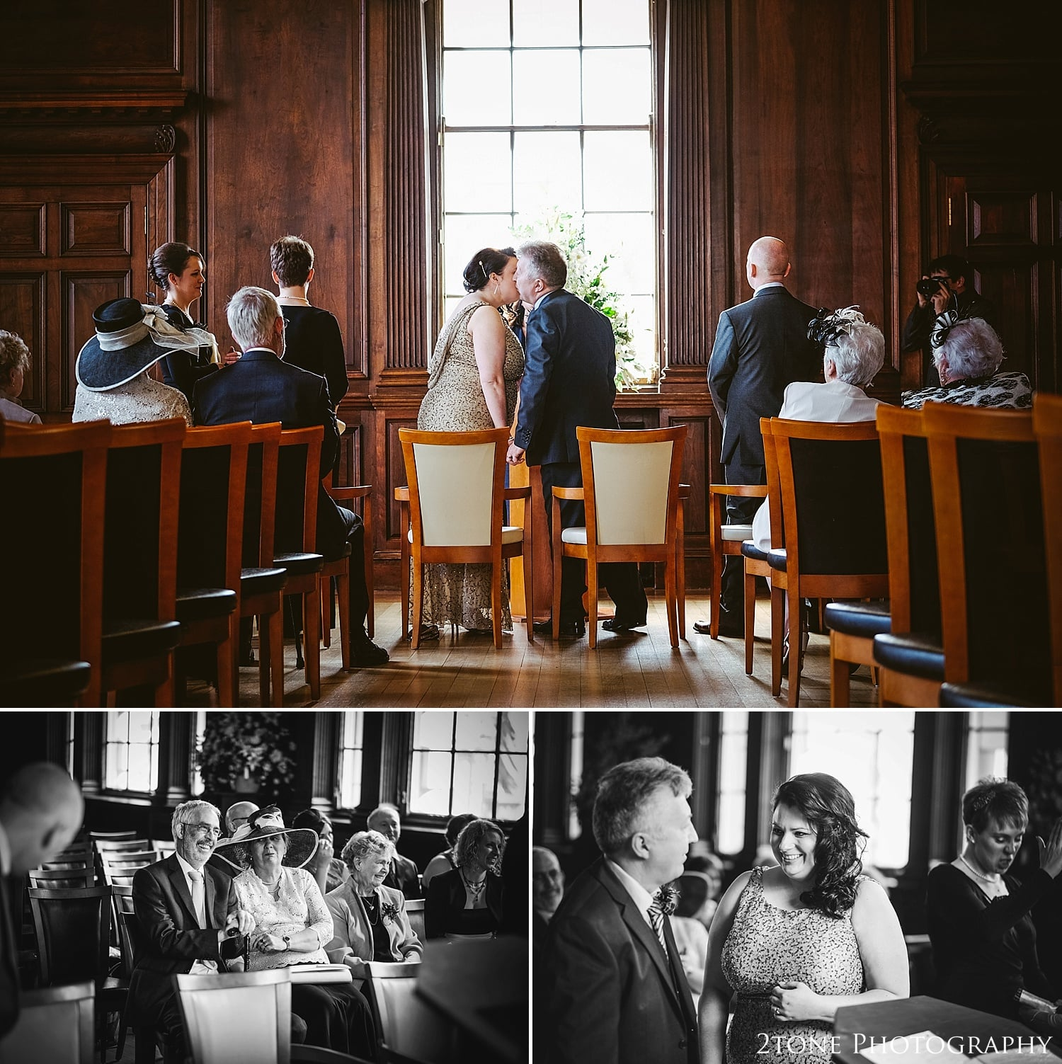 Intimate wedding.  Wedding Photography at the Lothian Chambers in Edinburgh by 2tone Photography
