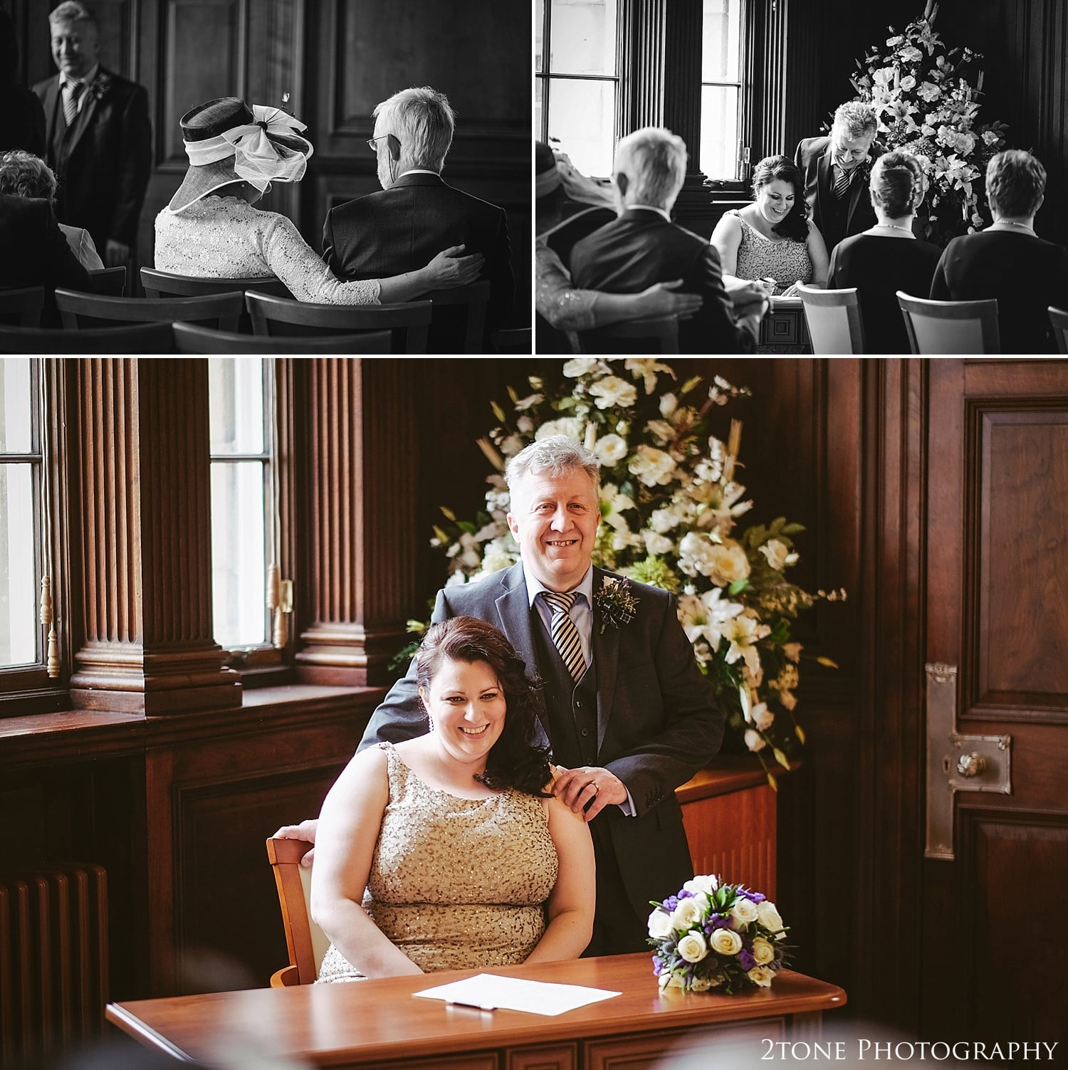 Signing the register.  Wedding Photography at the Lothian Chambers in Edinburgh by 2tone Photography