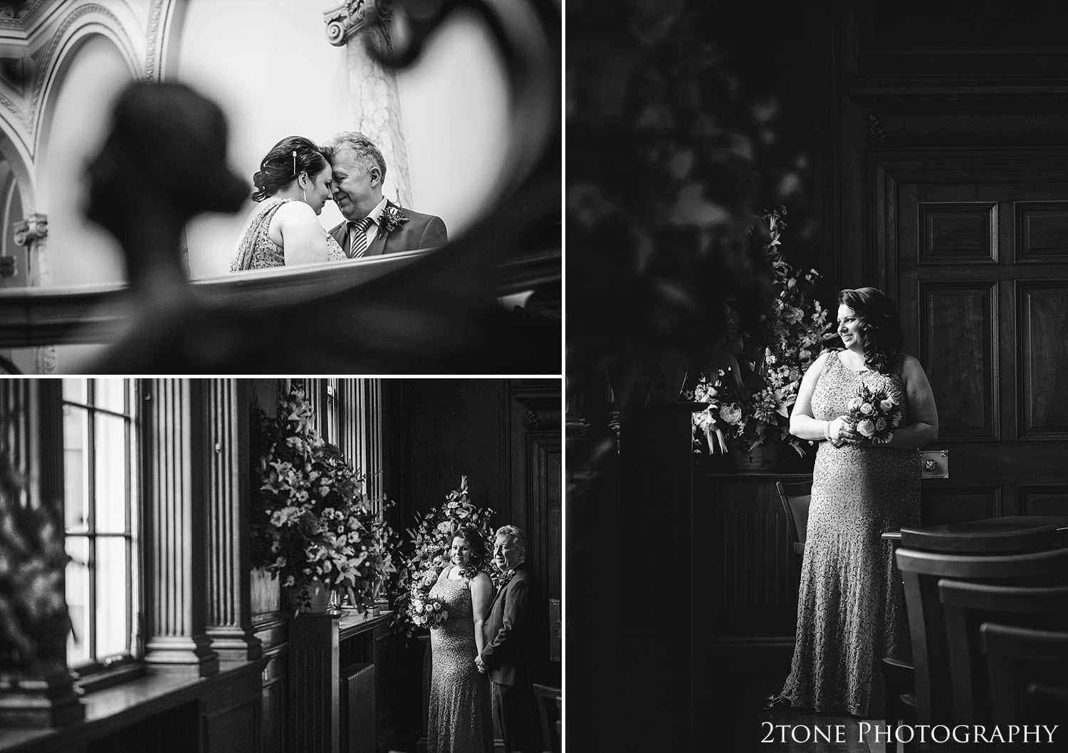 The beautiful bride.  Wedding Photography at the Lothian Chambers in Edinburgh by 2tone Photography