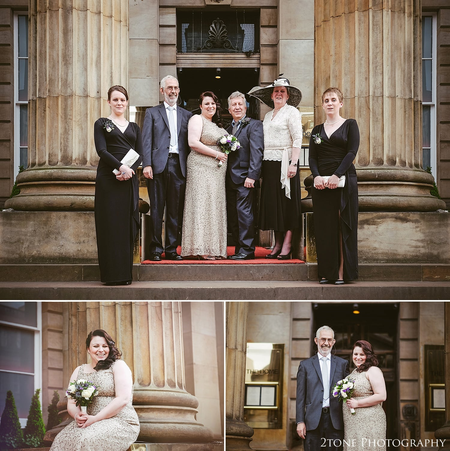 Wedding group shots at the Dome in Edinburgh.  Photography by 2tone Photography