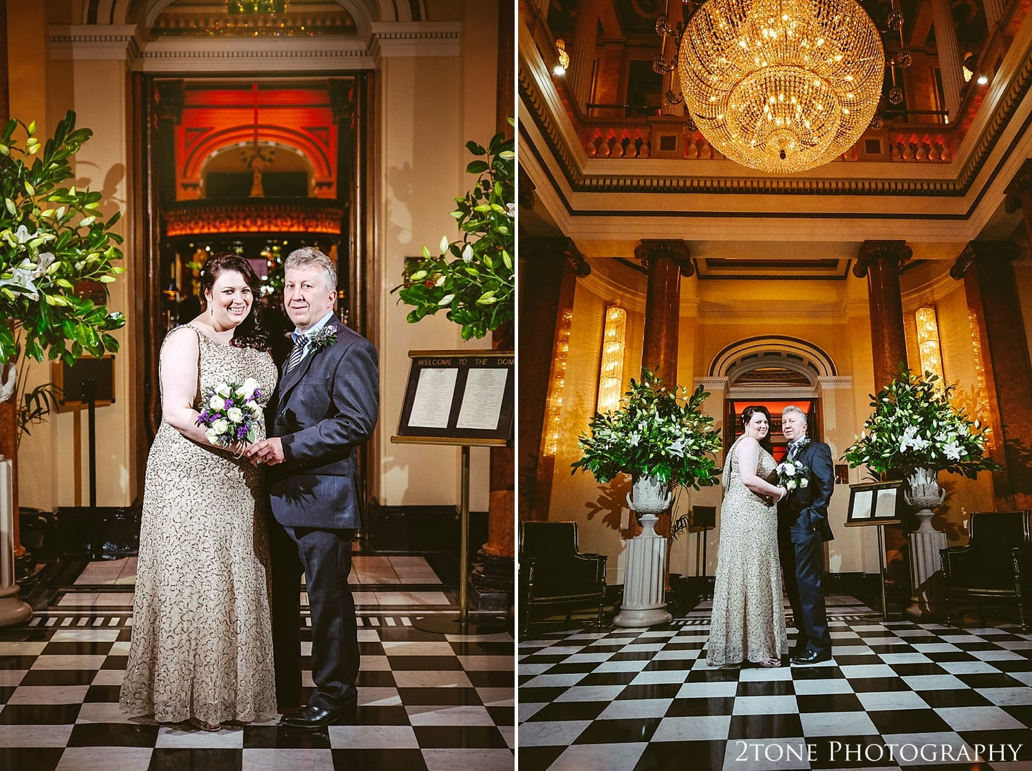 Wedding day in the Dome.  Photography by 2tone Photography