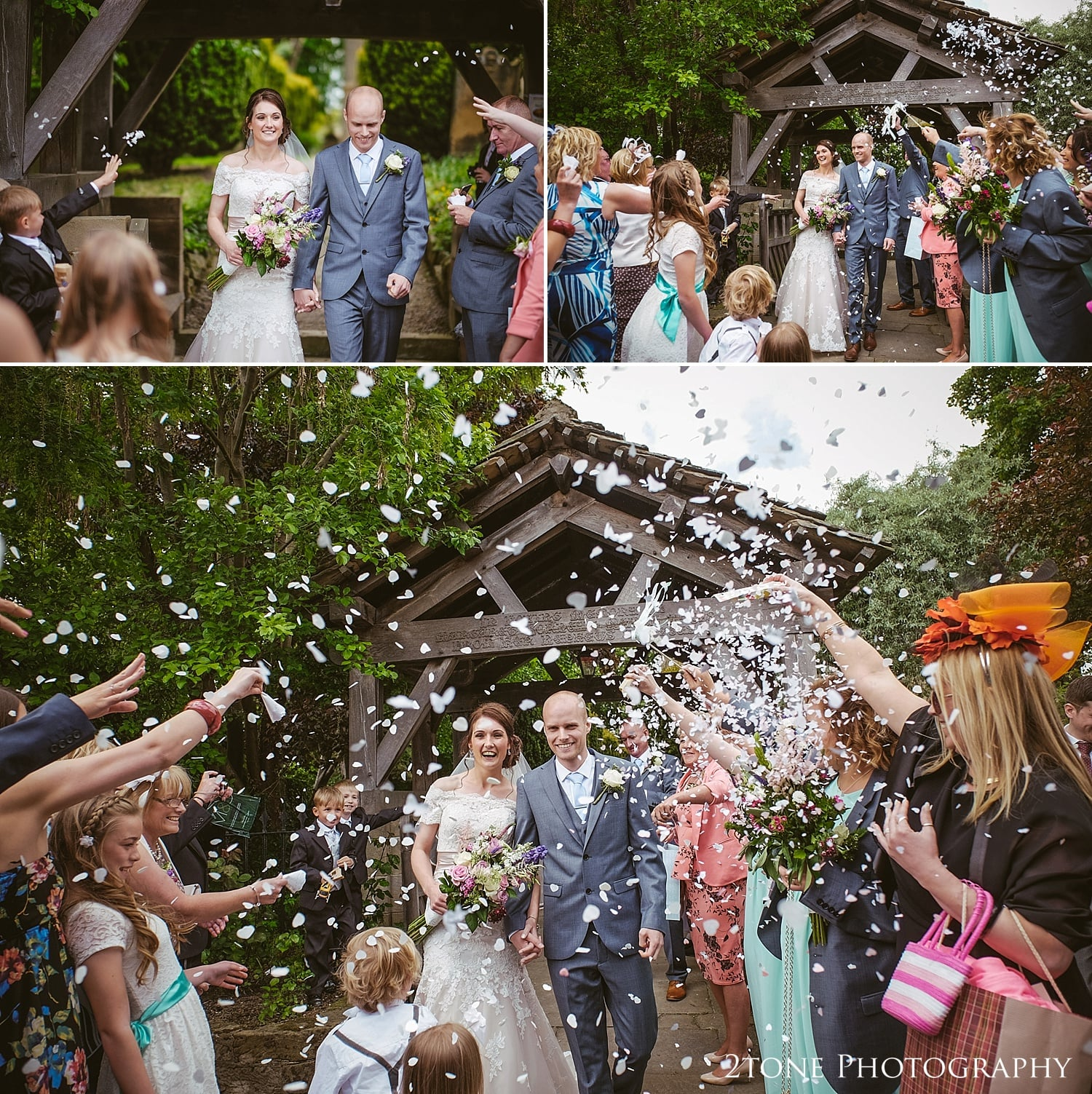 Confetti in St Oswin's Church in Newton Under Roseberry by 2tone photography www.2tonephotograpy.co.uk