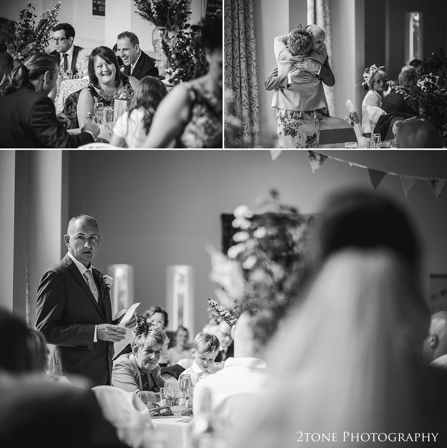 Wedding Speeches.  Village Hall wedding photography by 2tone Photography www.2tonephotograhy.co.uk