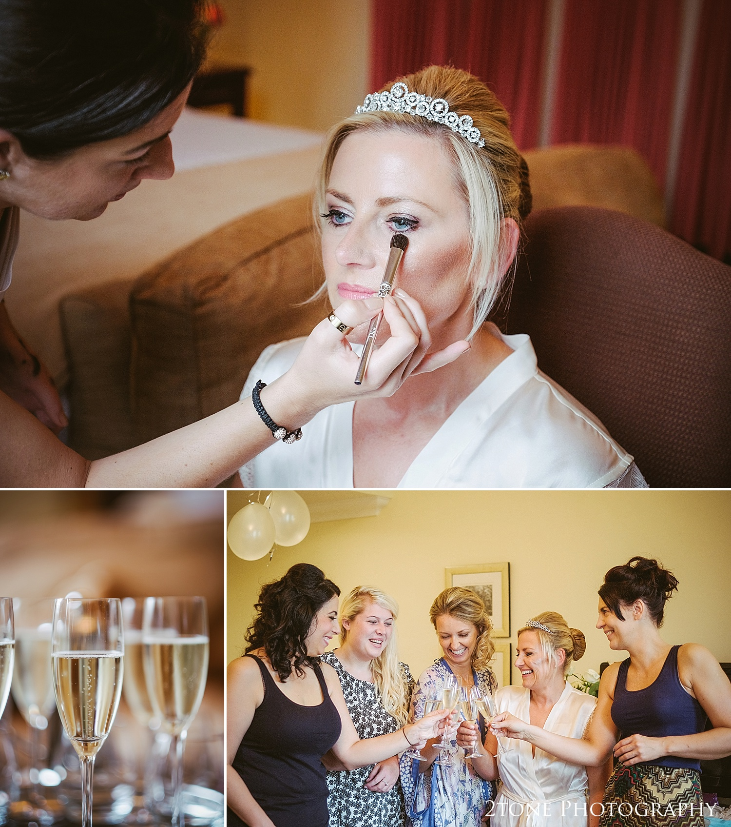 Wedding make up at Linden Hall by Newcastle and Durham based wedding photographers www.2tonephotography.co.uk