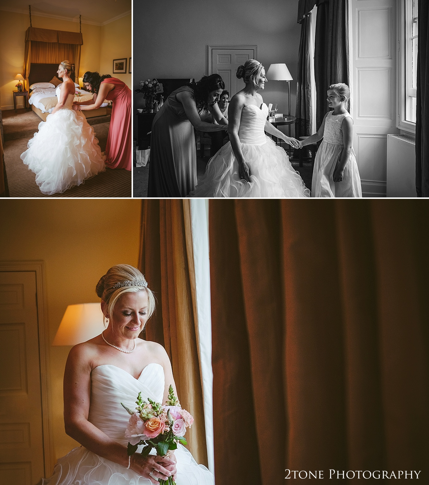 Bridal portraiture by Newcastle and Durham based wedding photographers www.2tonephotography.co.uk