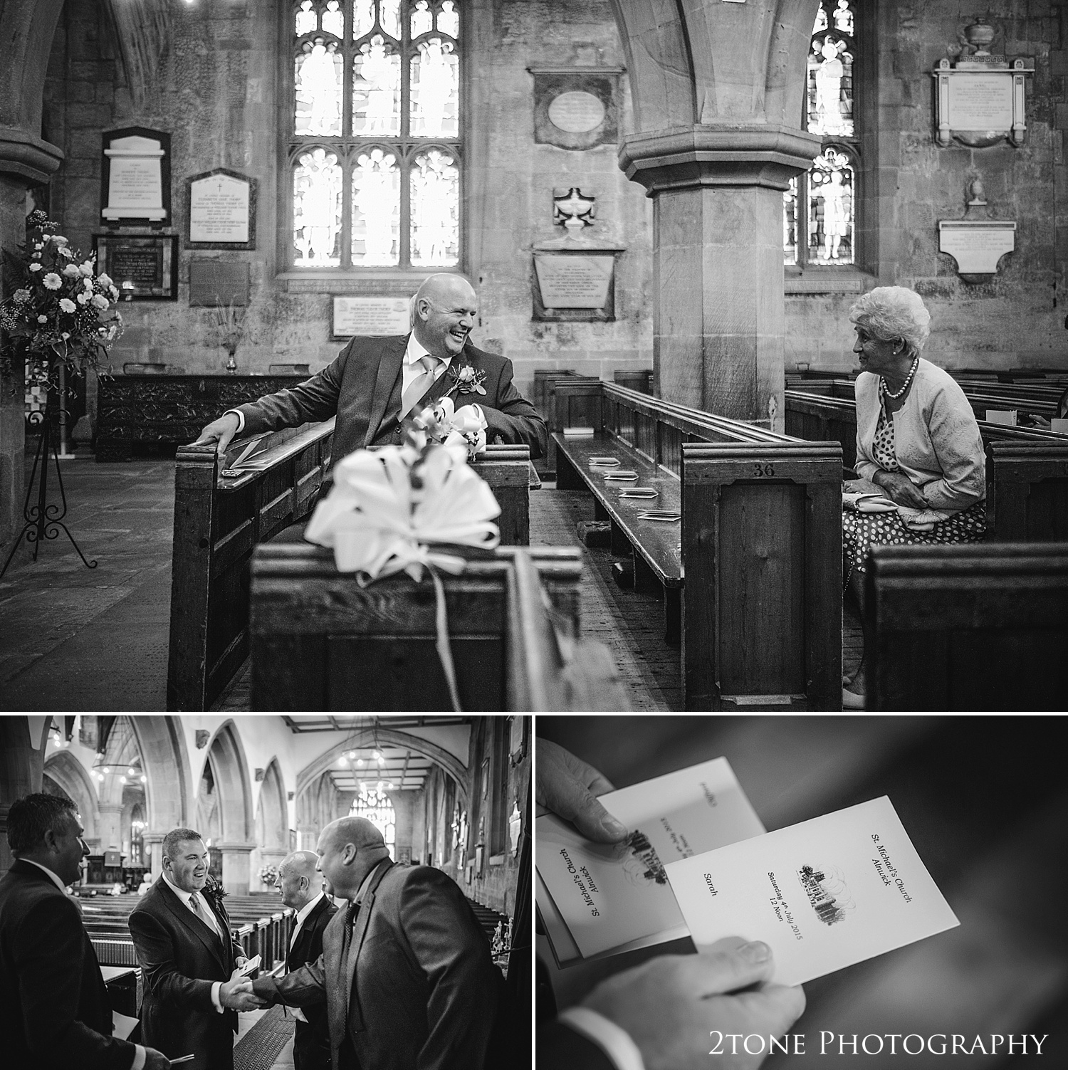 St Michaels Church in Alnwick wedding by Newcastle and Durham based wedding photographers www.2tonephotography.co.uk