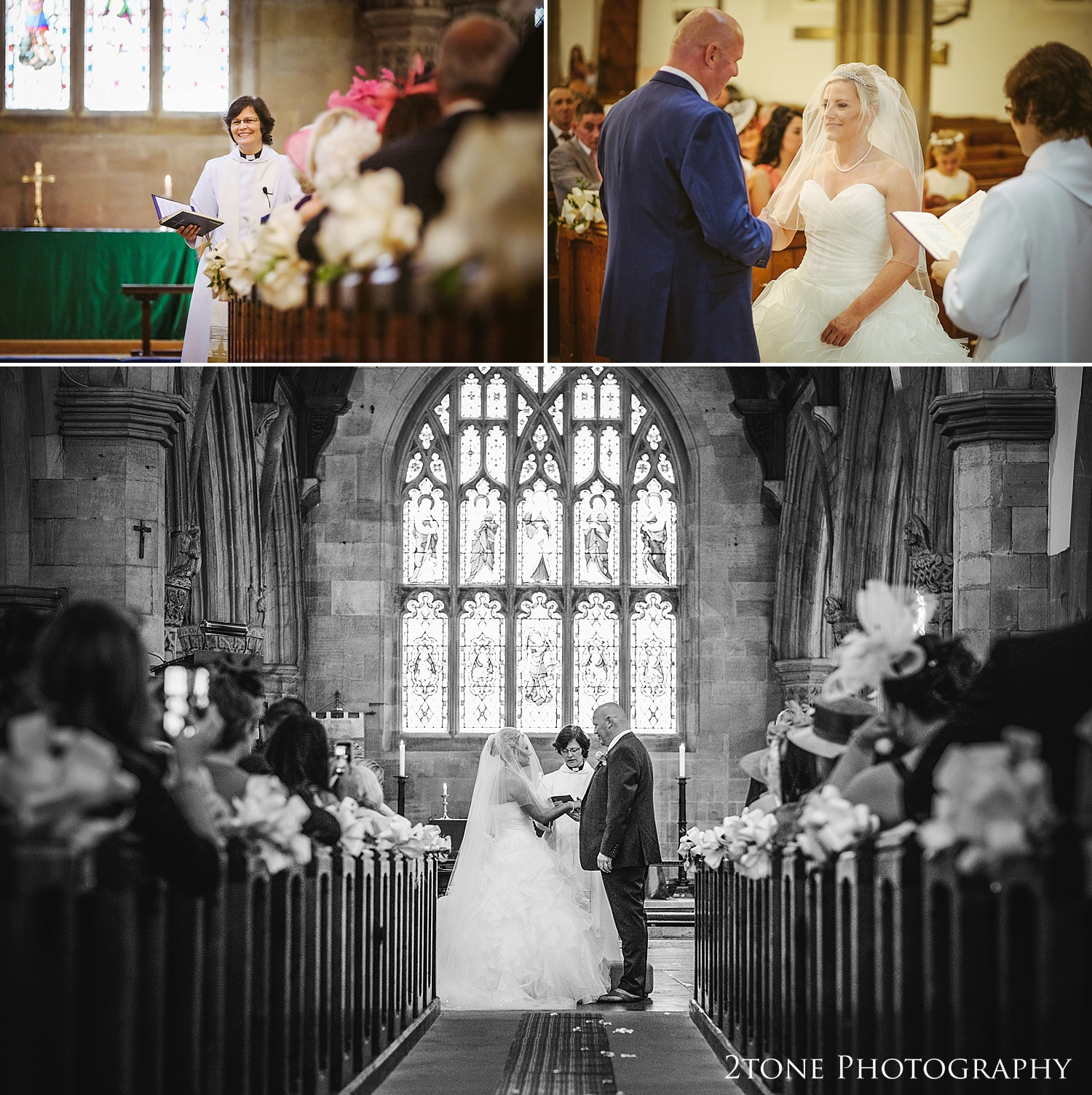Wedding photography in St Michaels Church in Alnwick by Newcastle and Durham based wedding photographers www.2tonephotography.co.uk