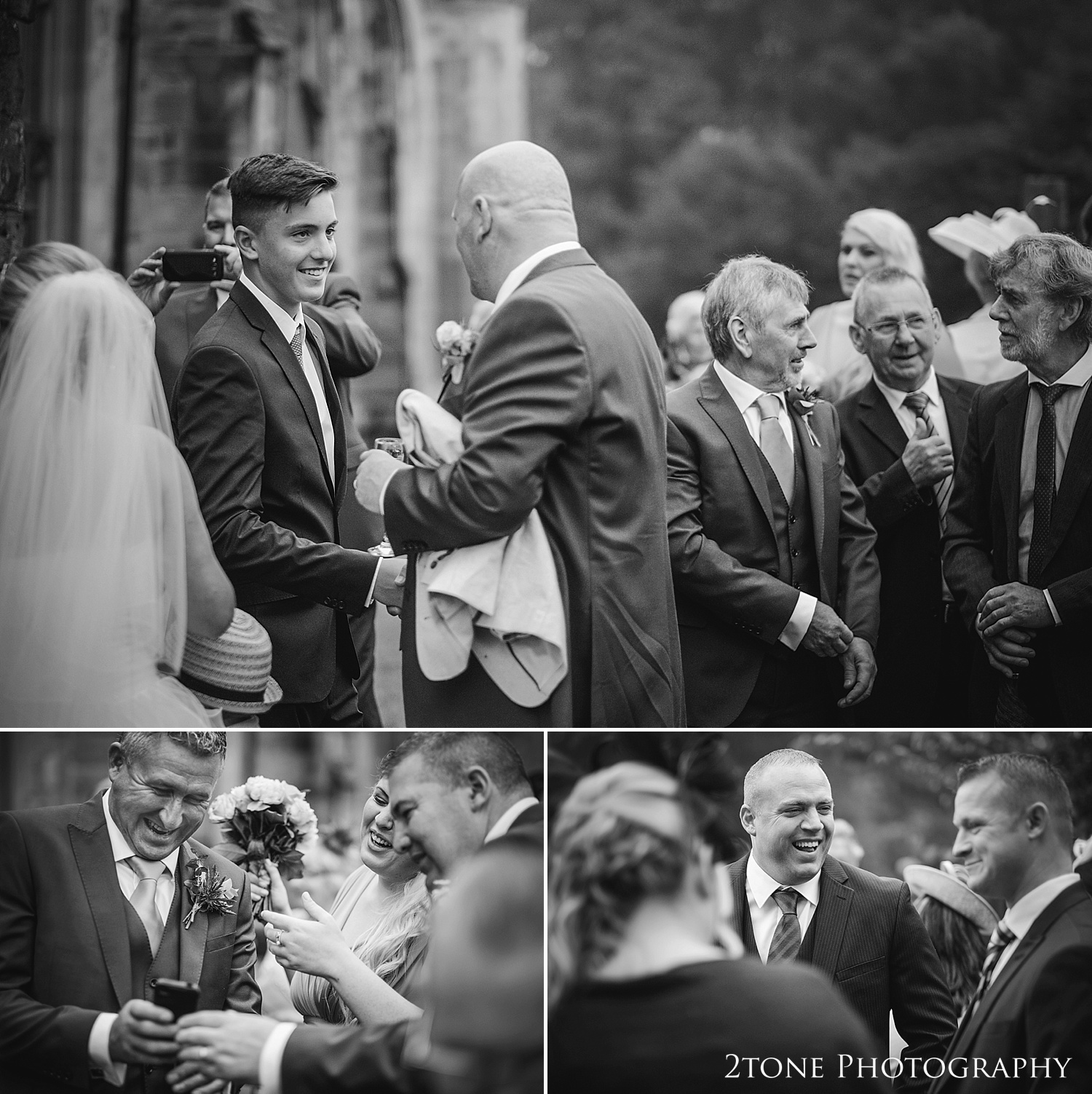 Natural wedding photography in Alnwick by Newcastle and Durham based wedding photographers www.2tonephotography.co.uk