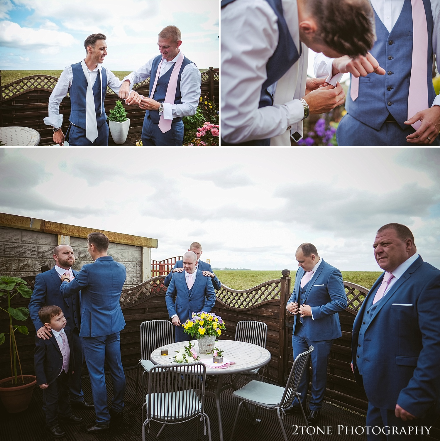Grooms preparations by Durham based wedding photographers www.2tonephotography.co.uk