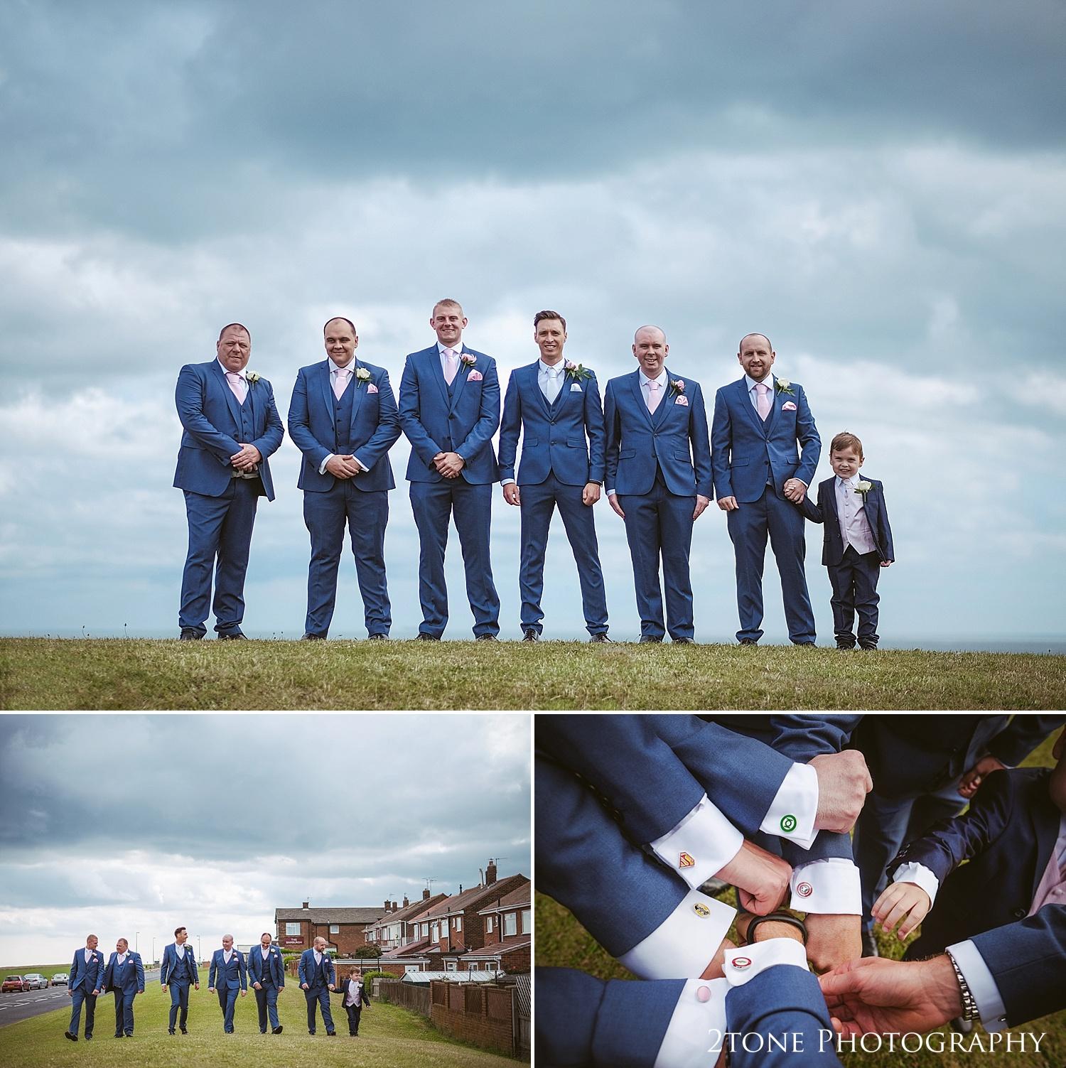 The groomsmen by Durham based wedding photographers www.2tonephotography.co.uk