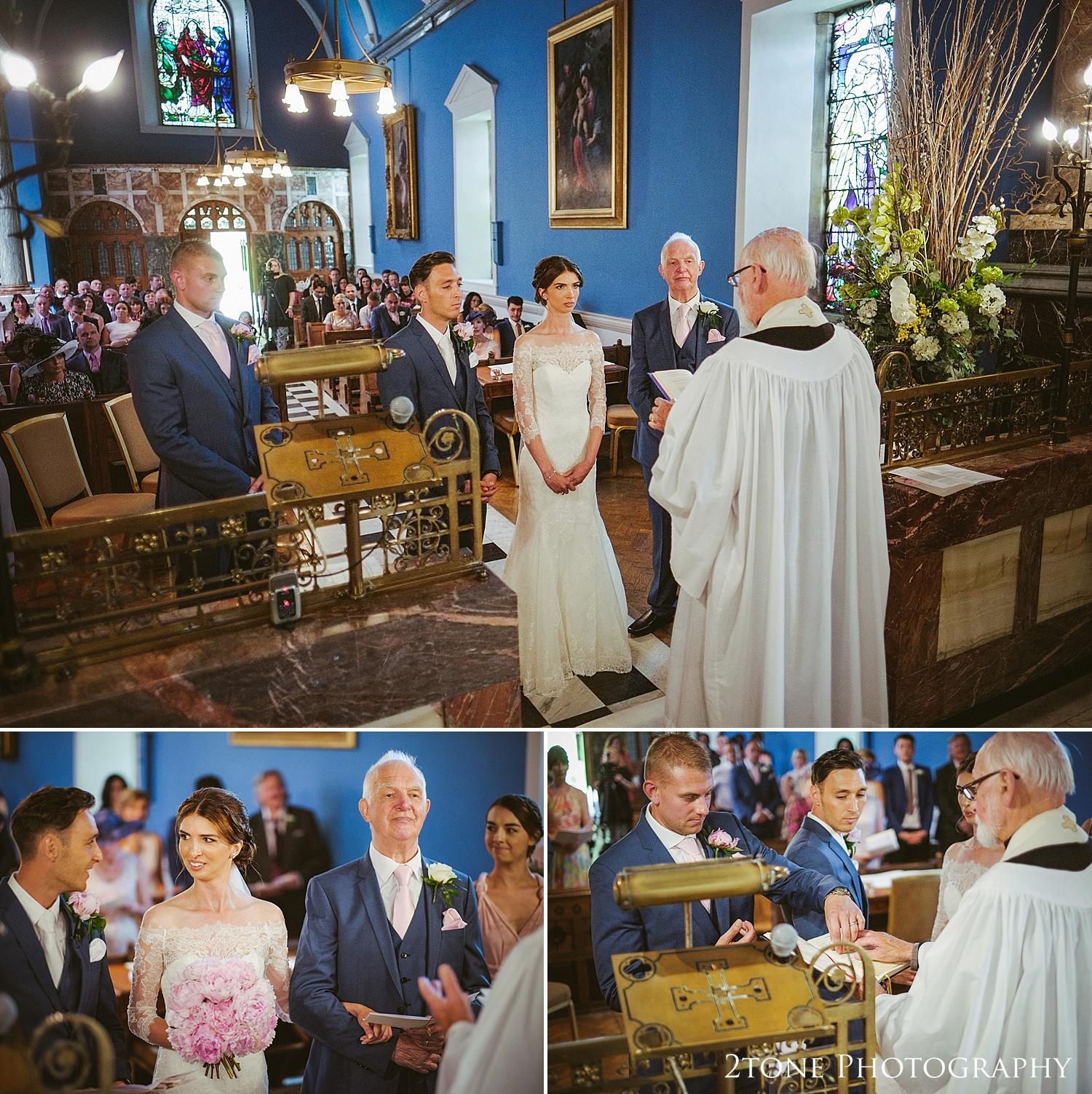 Wynyard Hall wedding ceremony by Durham based wedding photographers www.2tonephotography.co.uk