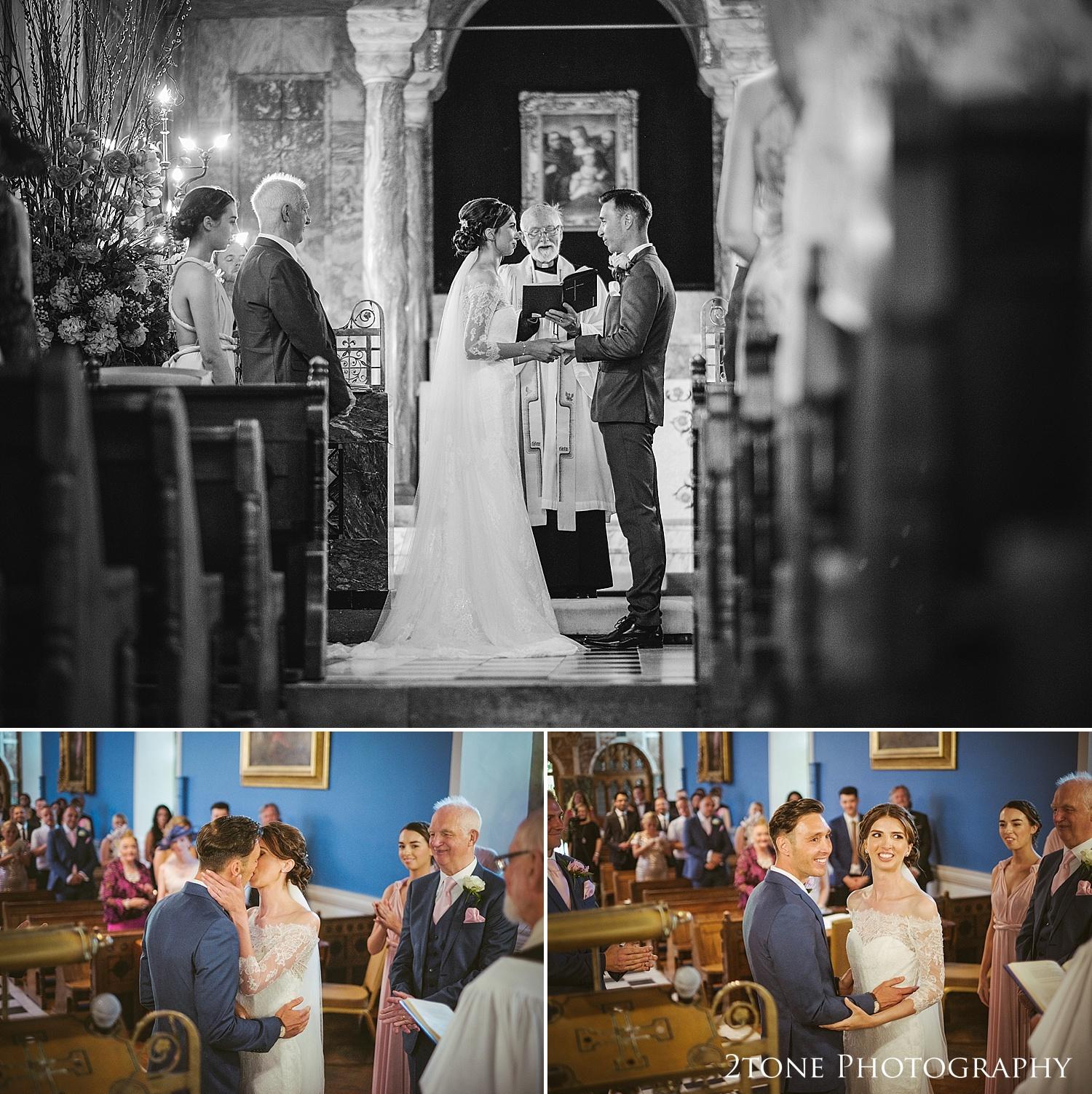 Wedding ceremony at Wynyard Hall by Durham based wedding photographers www.2tonephotography.co.uk