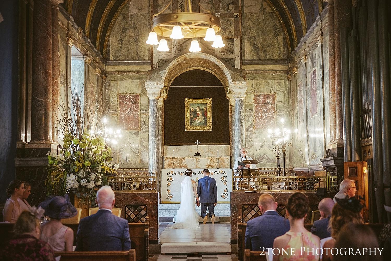Chapel wedding ceremony at Wynyard Hall by Durham based wedding photographers www.2tonephotography.co.uk
