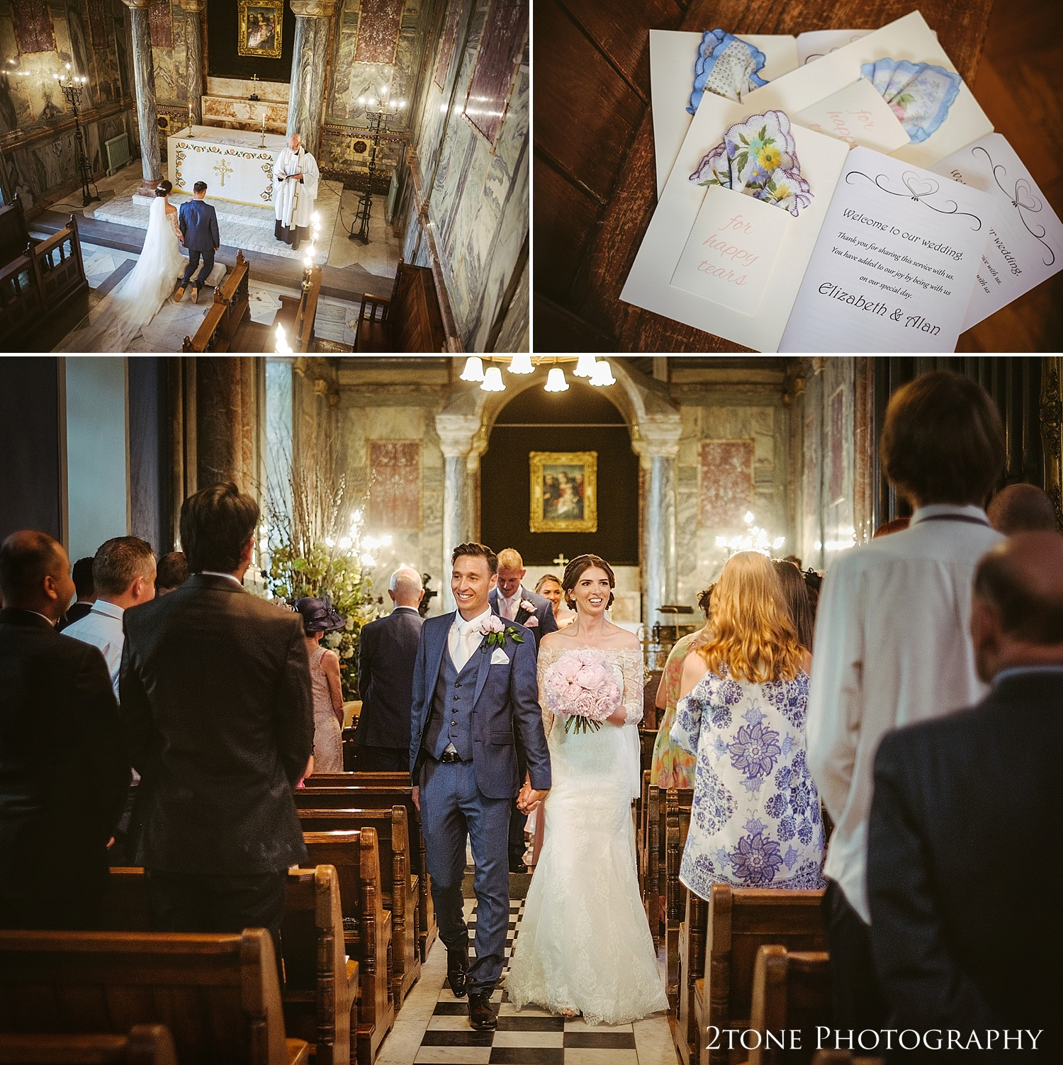 Weddings at Wynyard Hall Chapel by Durham based wedding photographers www.2tonephotography.co.uk