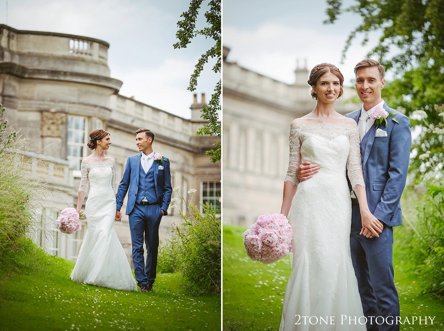 Natural wedding photography at Wynyard Hall by Durham based wedding photographers www.2tonephotography.co.uk