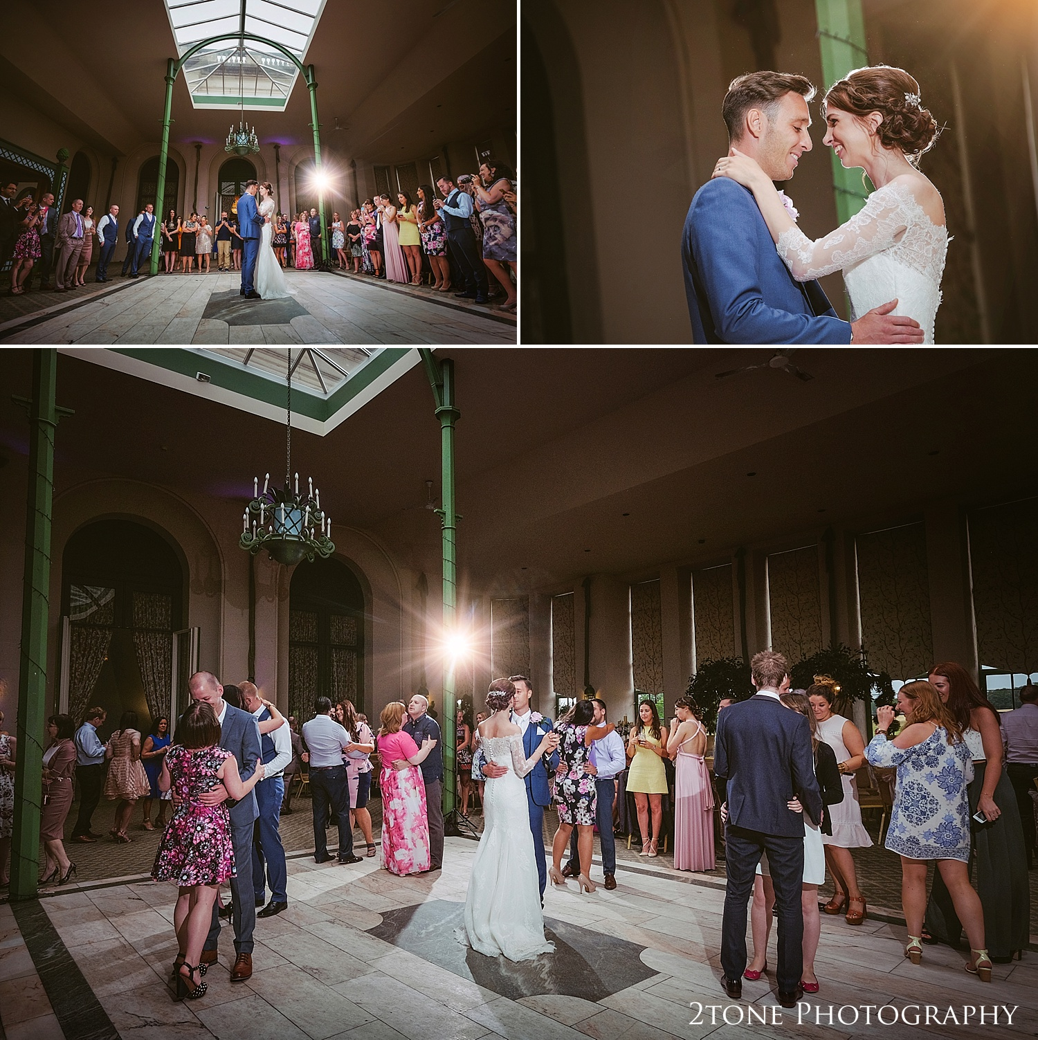 Wedding evening reception at Wynyard Hall by Durham based wedding photographers www.2tonephotography.co.uk