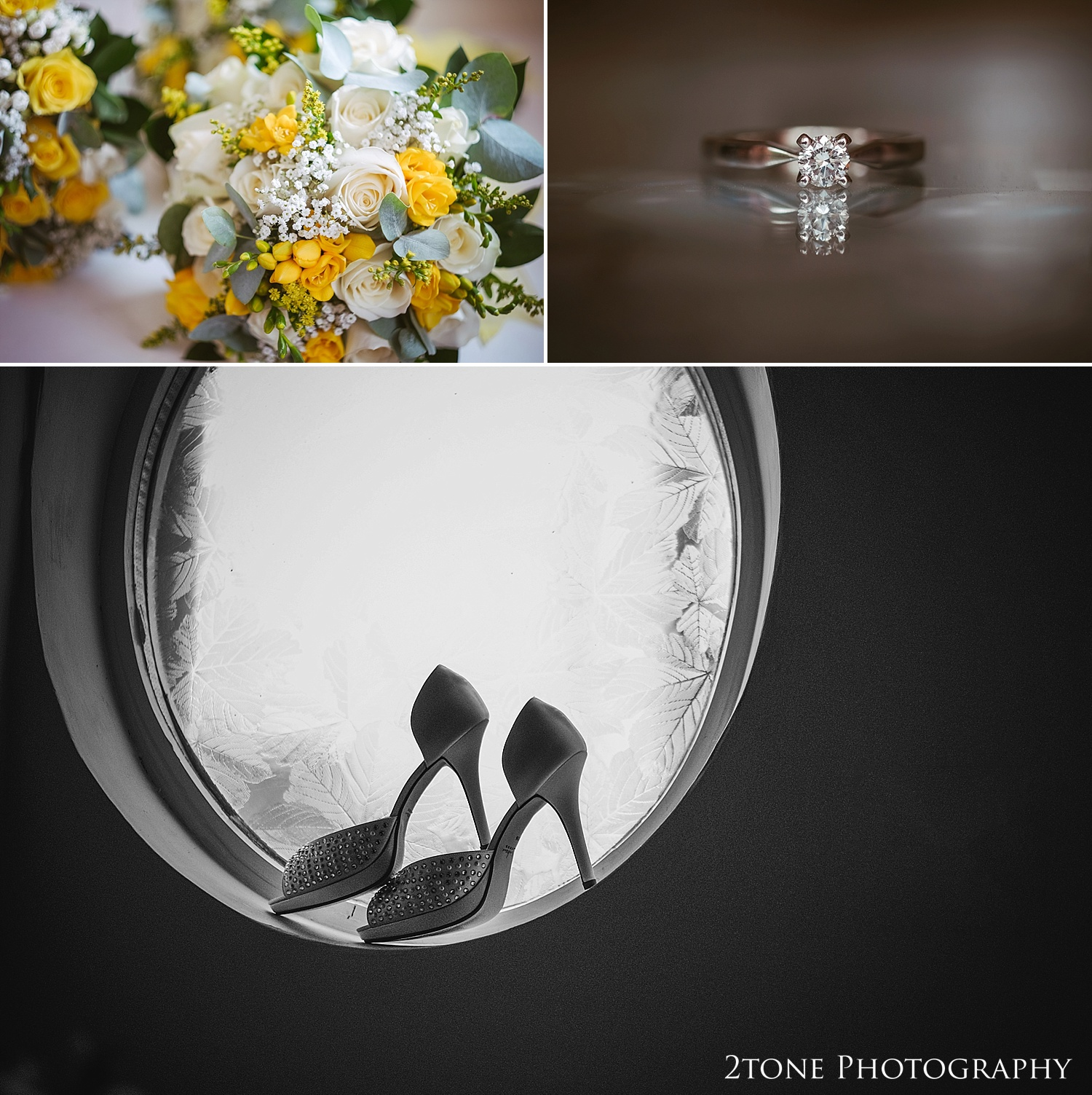 Wedding shoes by wedding photographers in Durham, www.2tonephotography.co.uk