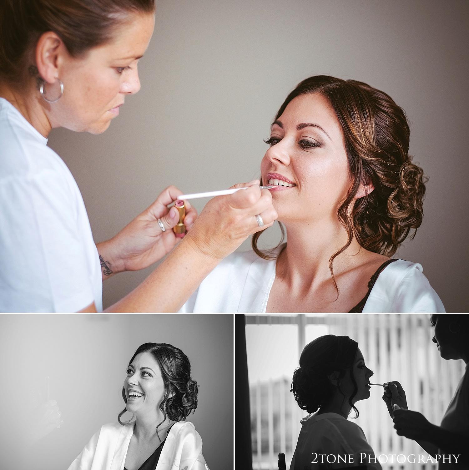 Wedding make up by wedding photographers in Durham, www.2tonephotography.co.uk