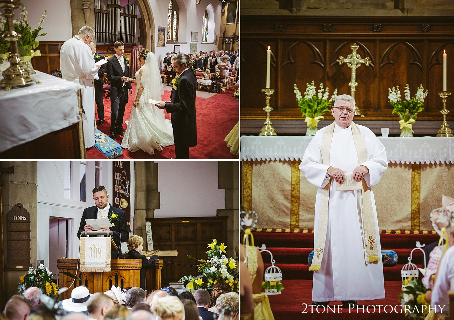 Wedding ceremony.  Church weddings in Seaham by Wedding Photographers based in Durham, www.2tonephotography.co.uk