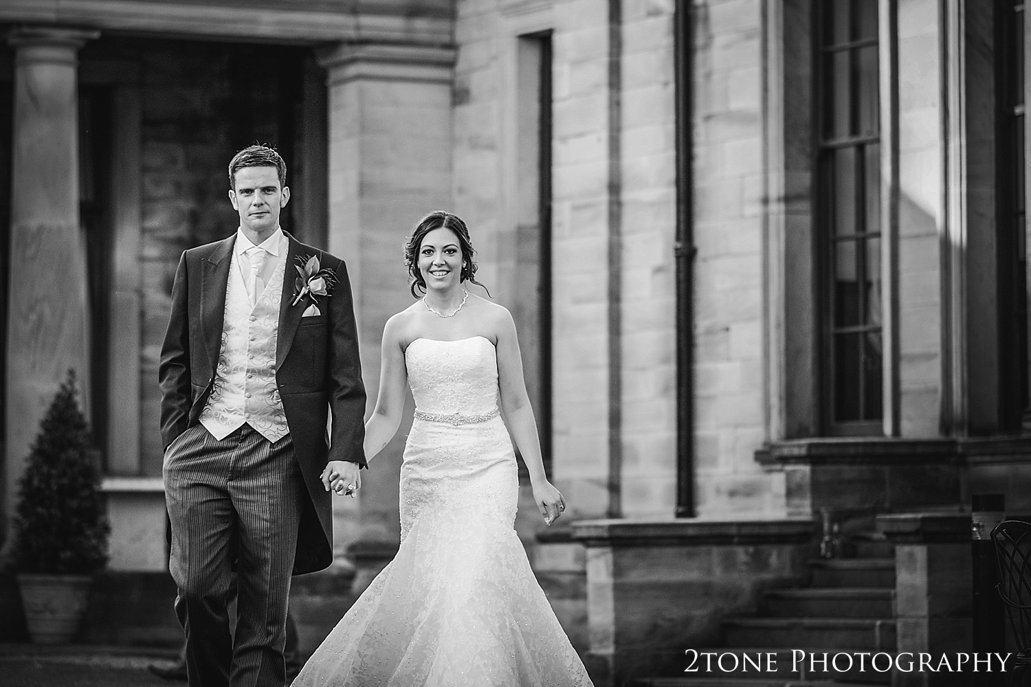 Creative wedding photography at Beamish Hall by Wedding Photographers based in Durham, www.2tonephotography.co.uk