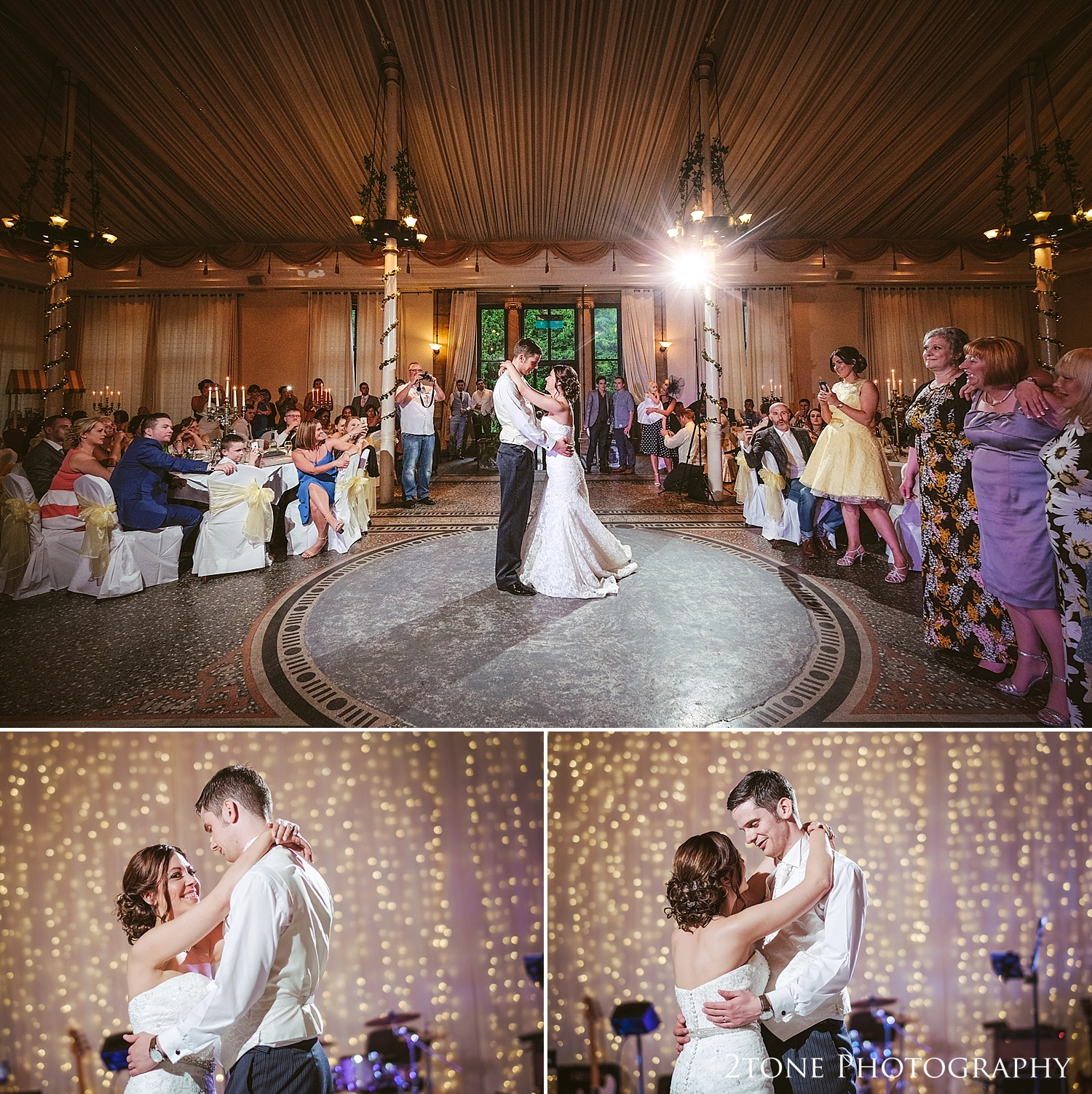 The first dance at Beamish Hall by Wedding Photographers based in Durham, www.2tonephotography.co.uk