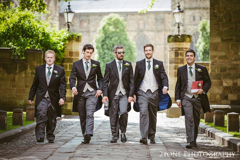 Groomsmen in Durham.  Natural wedding photography in Durham by Durham based wedding photographers www.2tonephotography.co.uk