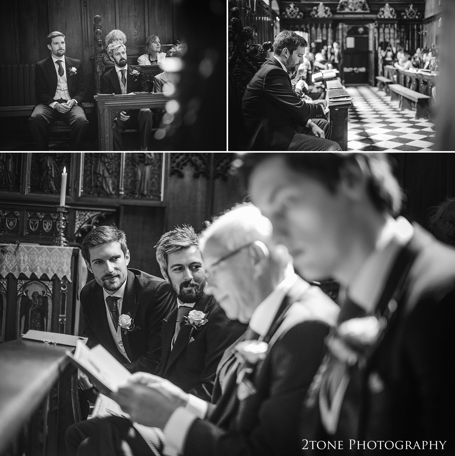 The Tunstall Chapel wedding ceremony, Durham Castle.  Natural wedding photography in Durham by Durham based wedding photographers www.2tonephotography.co.uk