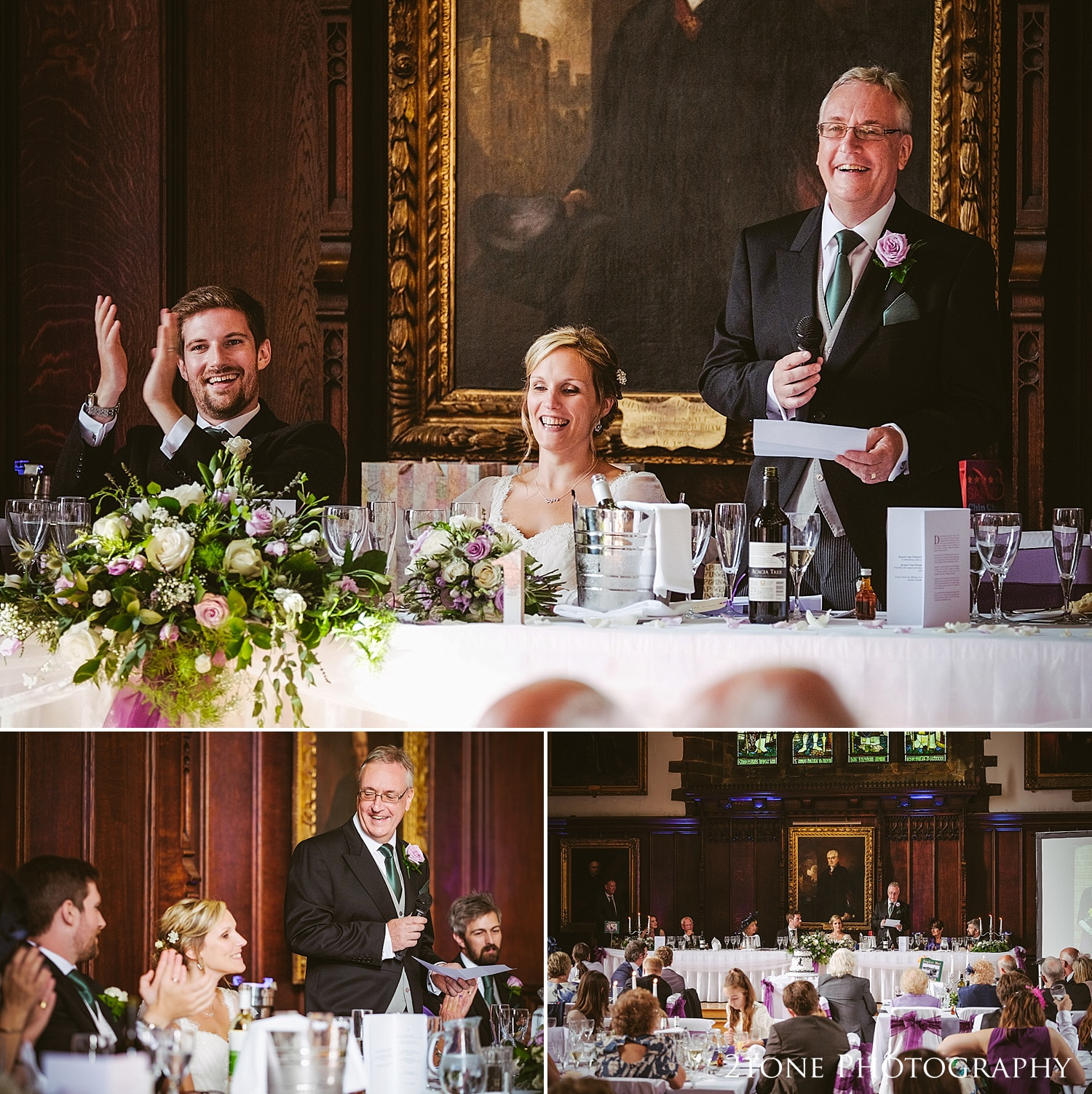 Wedding speeches at Durham Castle by husband and wife team 2tone Photography www.2tonephotography.co.uk