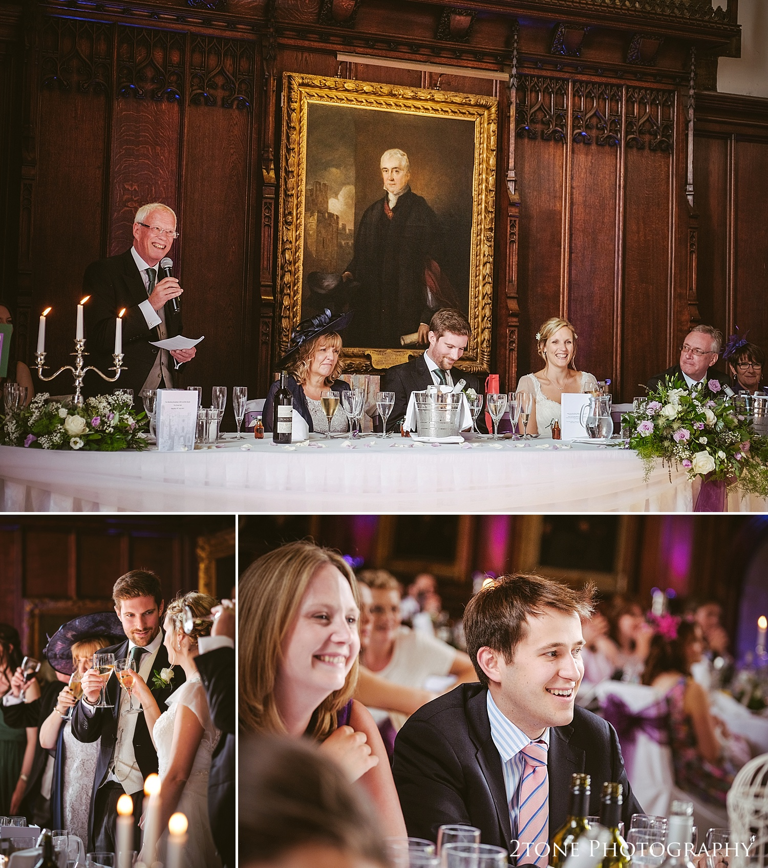 Father of the groom's speech at Durham Castle by husband and wife team 2tone Photography www.2tonephotography.co.uk