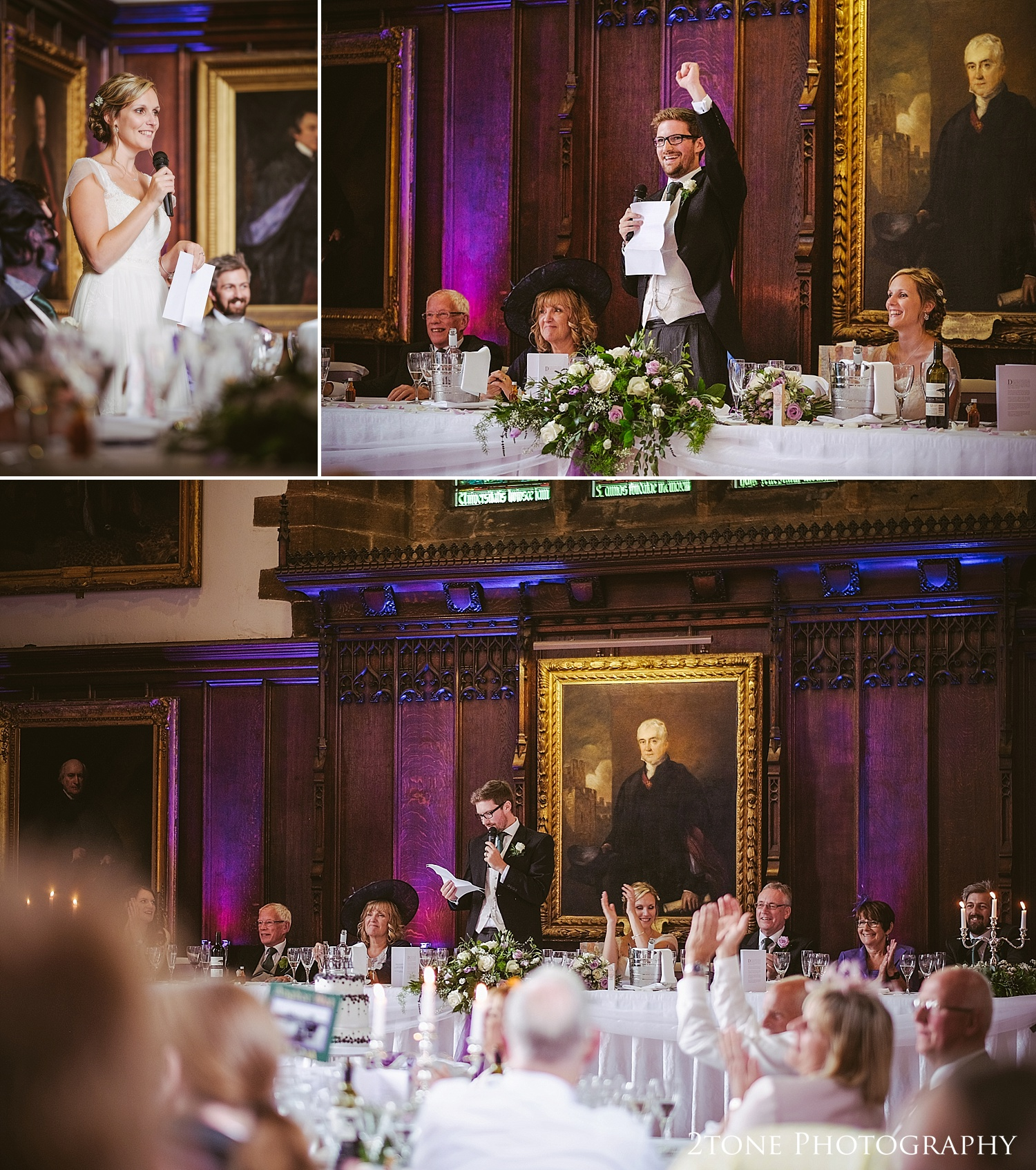 The groom's speech at Durham Castle by husband and wife team 2tone Photography www.2tonephotography.co.uk