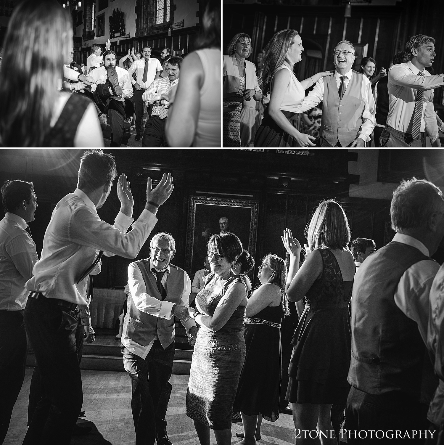 Evening dancing at Durham Castle by husband and wife team 2tone Photography www.2tonephotography.co.uk