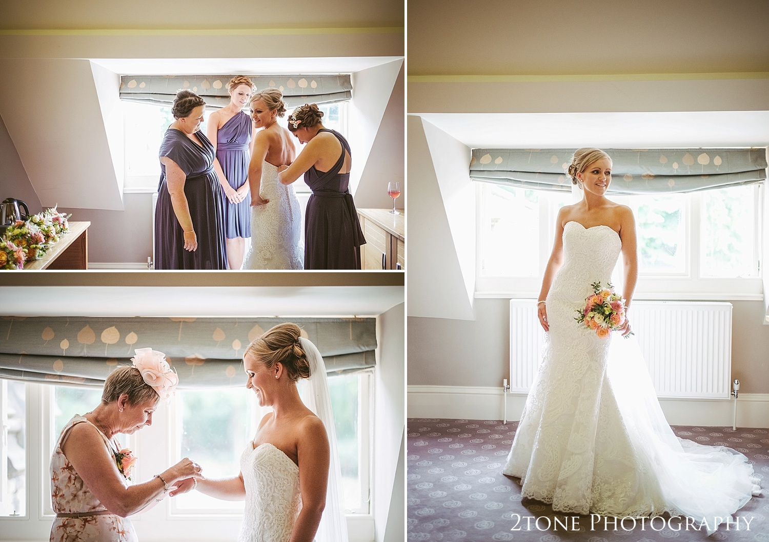 The bride at Jesmond Dene House in Newcastle by 2tone Photography www.2tonephotography.co.uk