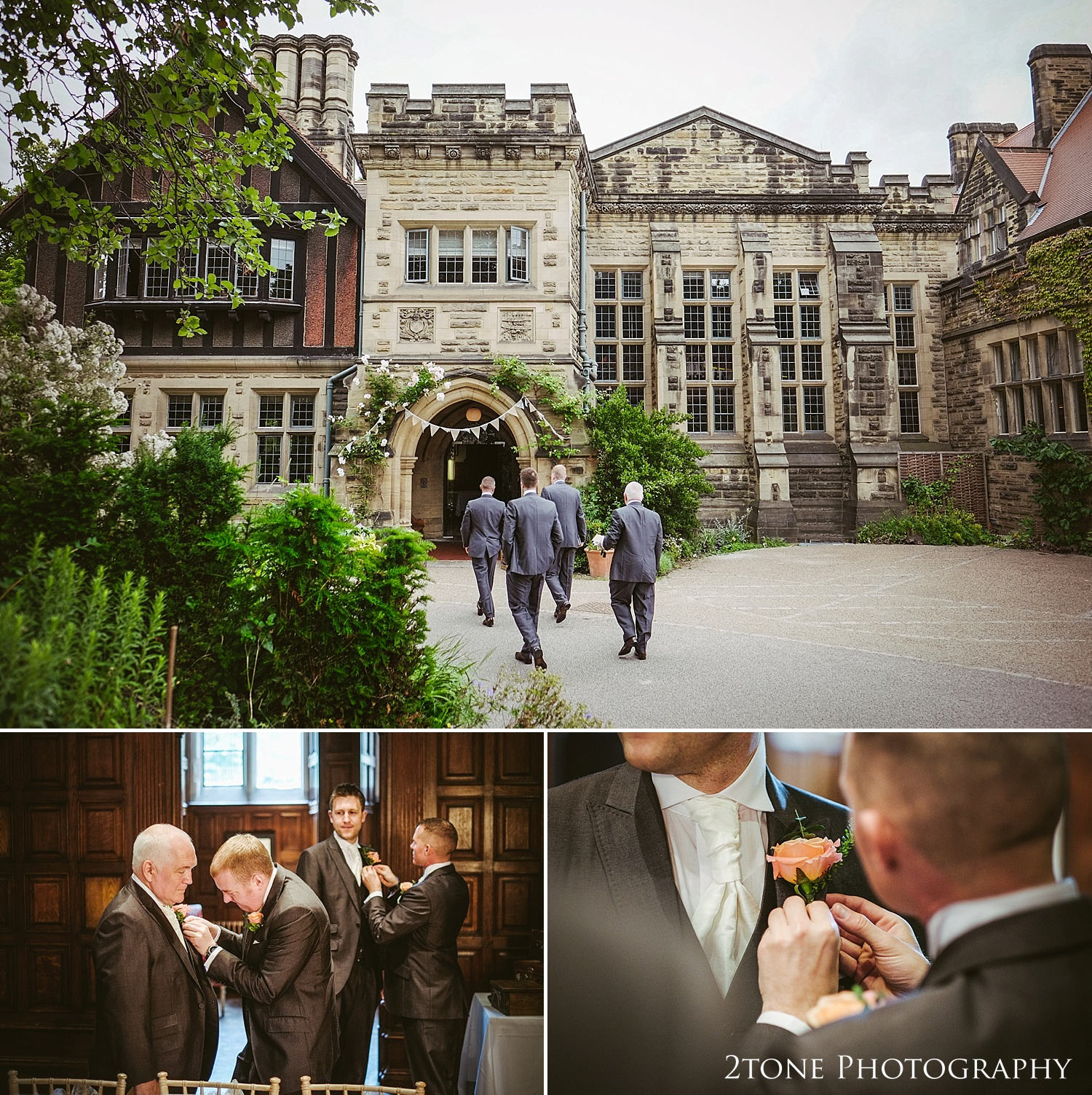 The groom arriving for his wedding at Jesmond Dene House in Newcastle by 2tone Photography www.2tonephotography.co.uk